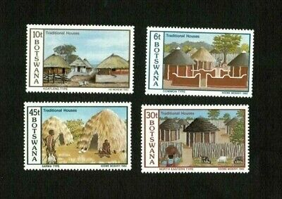 Botswana 1982 - Scott#299-302 - Traditional Homes, House - Set of 4 Stamps - MNH