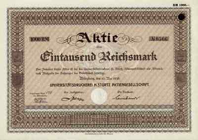 Universitätsdruckerei Stürtz AG 1938 Würzburg Unterfranken Bertelsmann Springer