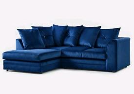 ♏♏ Factory Direct, ♑♐ Plush Velvet Sofa DFS style. 2+3 Seaterp