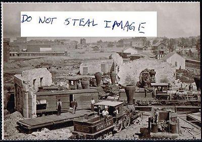 Atlanta Postcard (Read Description) 1865 The Georgia Railroad Roundhouse