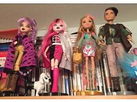 Bratz - £5 each - comes with 1 pet Ever after high - £10 for pair £15 for all!
