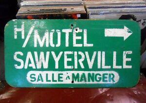 Enseigne Signalisation Sawyerville Vintage