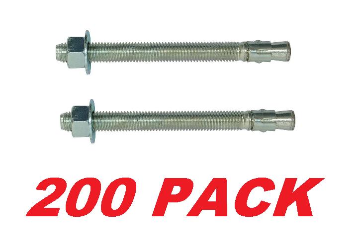 WA37334 3//8 x 3 3//4 Wedge-All Carbon-Steel Wedge Anchors 50//pk