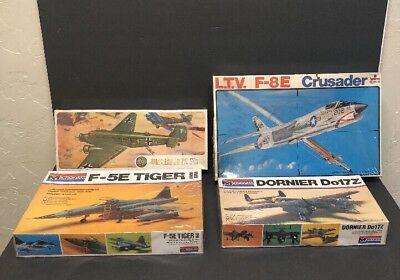 Vintage 1970's monogram  Airfix ESCI Military Airplane Model Kit Lot Of 4
