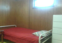 Furnished room, $25/day, private washroom $35/day