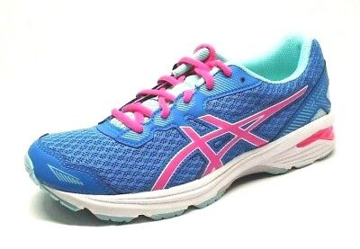 Asics Girls Gt 1000 5 Gs Running Shoe  Blue Pink Aqua Splash  Size 6 Us M