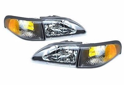 TIFFIN ALLEGRO BUS 1998-2000 DIAMOND HEADLIGHTS HEAD LIGHT TURN SIGNAL 4 PCS SET