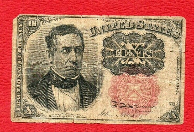 FIFTH ISSUE FRACTIONAL 10 CENT 10 1874 CURRENCY - $14.99