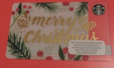 STARBUCKS GERMANY MERRY CHRISTMAS 2016 GIFT CARD.NO VALUE COLLECTORS ITEM