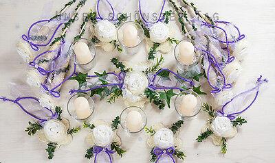 25-tlg. Tischdekoration flieder Hochzeit Taufe Kommunion Tischdeko TD0061(7)