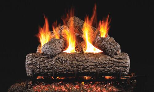 """Real Fyre Golden Oak  30"""" Vented Gas Log Natural Gas"""