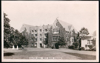 Bryn Mawr Pa College Dalton Hall Vintage Rppc  Postcard Early Old Real Photo Pc
