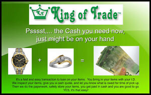 Need cash? Free up it's value in a Loan with King of Trade