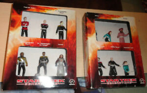 Star Trek Generations Movie TWO DIFFERENT Figure Sets