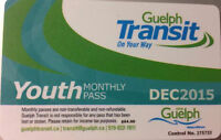 November Youth monthly Bus pass