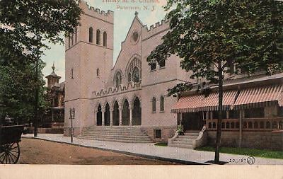 Postcard Trinity Me Church Paterson Nj