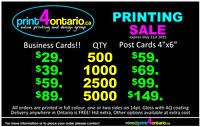 Business Cards and Postcards Sale - Ends May 31st, 2015