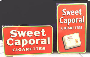 Vintage Tin Litho Canadian Tobacciana Signs