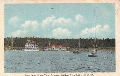 Postcard Royal Nova Scotia Yacht Squadron Halifax Nova Scotia Canada