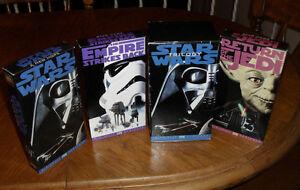 Star Wars Trilogy VHS VCR 3 Tape Set Digitally Mastered 1995
