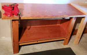 """Workbench with Craftsman 4"""" vice"""