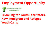 Youth Facilitators, New Immigrant and Refugee Youth Camp