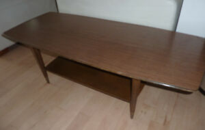 Vintage coffee table with shelf from the 60s