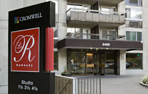 (3 1/2) 1 Bedroom - Downtown (Ville-Marie) as of July