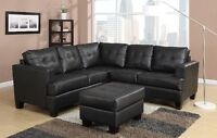 New! Tufted Leather Sectional Sofa! FREE Delivery!