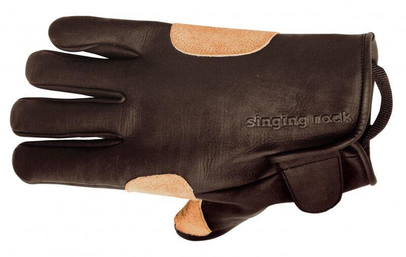 Singing Rock Grippy Leather Rappel Glove M-9 Medium