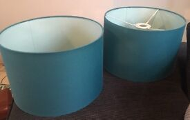 2 x green / turquoise lampshades