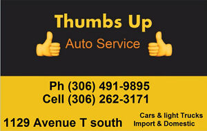 Thumbs Up Auto/Truck Mechanic Services / shop / repair