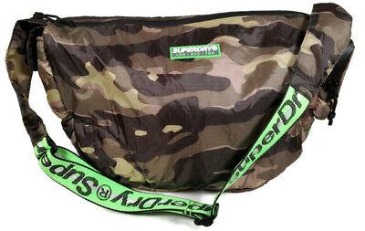 SUPERDRY Damon Side Messanger Bag Green Camo Fabric