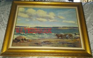 CANADIAN IMPRESSIONISTIC OIL PAINTING, SIGNED, c1930s-'40s