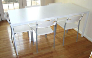 White Ikea Melltorp Dining Table