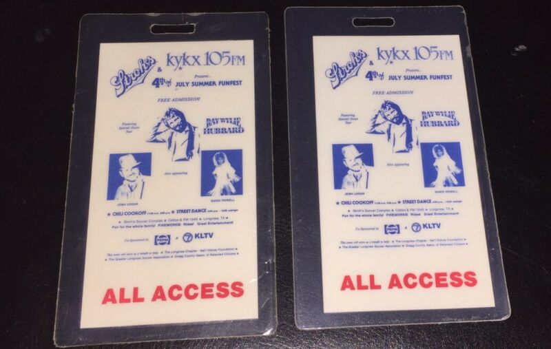Ray Wylie Hubbard ALL ACCESS Backstage Pass Stroh