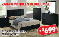 Zara 8pc Queen Bedroom Set, $699