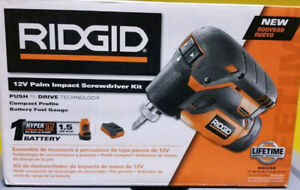 Ridgid 12v palm impact screwdriver brand new