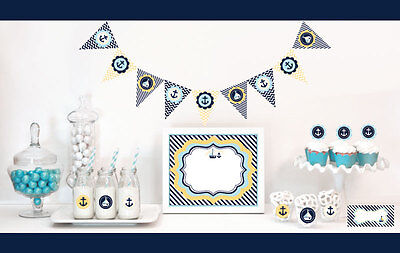 Nautical Ocean Theme Baby Shower Party Decorations Starter