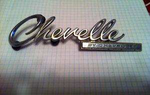 1969 Chevelle trunk emblem/script