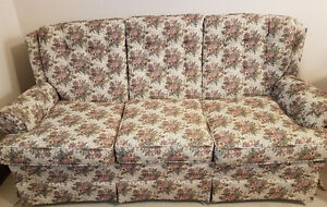 "65"" floral couch and chair"