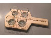 4 glass shot paddle