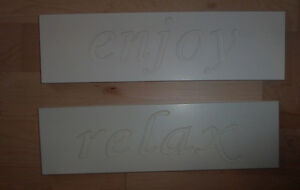 'enjoy', 'relax' plaques $ 3 ea, 'Memories' decor with candle $5 Kitchener / Waterloo Kitchener Area image 1