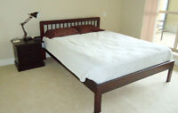 Squamish - Queen Size Bed, End Table and Mattress