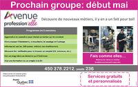 Prochain groupe : Début mai 2016