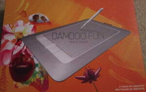 Wacom Bamboo Fun USB Touch Drawing Graphics Tablet