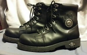 Harley Davidson lace-up leather boots Peterborough Peterborough Area image 1