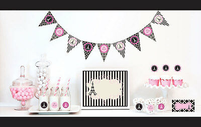 Parisian Themed Bridal Shower (Parisian Paris Theme Bridal Shower Birthday Party Decorations Starter)