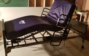 DRIVE full electric single bed with support mattress. Like New
