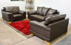 ScS - Italian Leather 2 Seater & 2 Armchairs